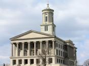 English: Tennessee State Capitol in Nashville, Tennessee