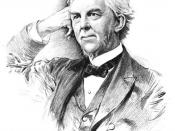 English: Engraving of the poet/professor Dr. Oliver Wendell Holmes, Sr.