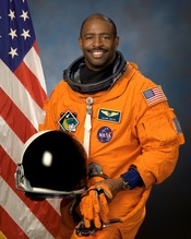 Official portrait image of NASA astronaut Leland D. Melvin, a mission specialist of STS-122.