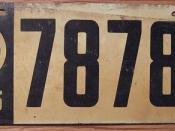 OHIO 1915 LICENSE PLATE