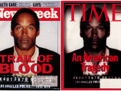 O.J. Simpson on the cover of Newsweek and TIME.