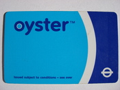 A Transport for London, Oyster smart card