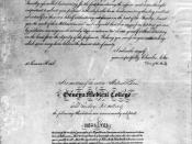 Official document of Elizabeth's Blackwell admission to Geneva Medical College