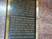 A plaque commemorating the Easter Rising at the General Post Office, Dublin Carved by Tom Little]