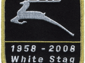 Patch commemorating the 50th anniversary of the White Stag program in 2008.