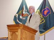 US Senator John McCain III, (R-Arizona) speaks during the USA, Non Commissioned Officer (NCO), Primary Leadership Development Class held at Fort Dix, New Jersey. Location: FORT DIX, NEW JERSEY (NJ) UNITED STATES OF AMERICA (USA)