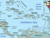 Map of the Caribbean Sea and its islands.