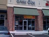 English: A picture I took of my local Great Clips Salon (Long Lake, Delaware), feel free to use for anything.