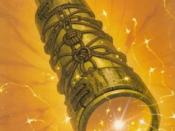 The cover of the book The Amber Spyglass.