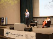 Angelino Alfano parla agli studenti della Summer School 2011