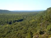 The Porcupine Mountains on the Upper Peninsula of Michigan