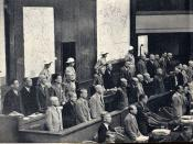 The defendants at the Tokyo War Crimes Trials