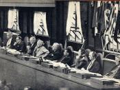 ja: 極東国際軍事裁判市ヶ谷法廷大法廷裁判官席 en: The judges at the International Military Tribunal for the Far East Ichigaya Court