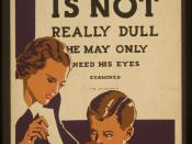 Public education poster urging eye exams for children (Works Progress Administration, circa 1937)