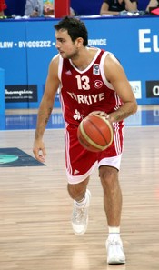 English: Turkish basketball player Ender Arslan