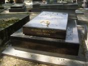 Français : Tombe de Susan Sontag, cimetière du Montparnasse, division 2.