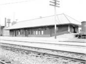 English: The Endicott Erie Railroad station on the main line in Endicott, New York.