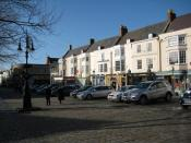 English: Market Place, Wells The cobbled Market Place in the centre of the small city of Wells.