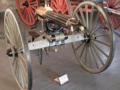 Gatling gun at Fort Laramie in Wyoming