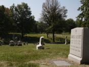 Dred Scott's grave, Calvary Cemetery, St. Louis, Missouri.