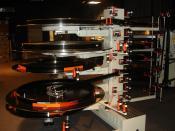Deutsch: Filmteller für 70mm-Film in einem IMAX-Theater