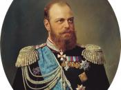 Portrait by Nikolay Shilder of Tsar Alexander III