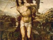 Saint Sebastian (d. 288), fictionalized portrait by Il Sodoma, ca. 1525.