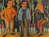 Drei Künstler Hermann Scherer, Kirchner, Paul Camenisch by Ernst Ludwig Kirchner