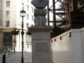Bust of Nehru at Aldwych, London