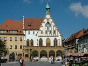 Deutsch: Amberg - Marktplatz mit gotischem Rathaus