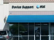 An AT&T Mobility Device Support Center in Las Vegas, Nevada. AT&T provides certain types of technical support for its mobile phones through these centers.