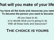 English: Emphasising choice in decision making as a tool for achievement and empowerment Español: Acentuar la opción en la toma de decisión como herramienta para el logro y la capacitación