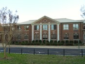 English: This is a photograph of Auburn Junior High School located in Auburn, Alabama. The building has formerly housed both Auburn High School and Samford Middle School.