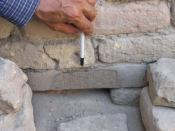 English: Description: Ancient Cuneiform writing in Ur, southern Iraq. Source: self-made Author: Unclefester89 taken in September 21, 2005 Permission: see below