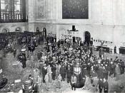 English: The floor of the New York Stock Exchange published in 1908.