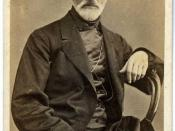 English: Black and white photographic portrait of Giuseppe Mazzini by Domenico Lama (1823-1890) with G.M.'s signature at the bottom. Italiano: Domenico Lama (1823-1890) - Giuseppe Mazzini.