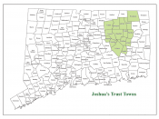 English: Towns in CT where Joshua's Tract Conservation and Historic Trust owns property or easements.