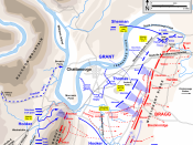 English: Map of part of the Chattanooga Campaign (the Battles for Chattanooga, Nov. 24-25, 1863) of the American Civil War. Drawn in Adobe Illustrator CS5 by Hal Jespersen. Graphic source file is available at http://www.posix.com/CWmaps/