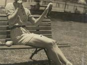 Tatiana Riabouchinska darning the ballet shoes, Sydney, between 1938-1940 / photographer unknown