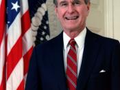 Official portrait of George H. W. Bush, former President of the United States of America.