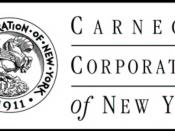 English: This is the Carnegie Corporation logo, taken from image http://www.columbia.edu/cu/lweb/indiv/rbml/collections/carnegie/CCNY.html with the permission of the Carnegie Archives at Columbia University