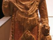 English: Avalokitesvara Boddhisattva (Guanyin). Stone. Sui Dynasty (581 – 618). Cernuschi Museum, Paris, France. Français : Musée Cernuschi, Paris, France.