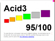 English: Acid3 rendered in Internet Explorer Mobile 9