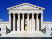 English: West face of the United States Supreme Court building in Washington, D.C. Español: Edificio de la Corte Suprema de Estados Unidos en Washington, D.C.