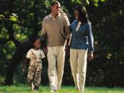 English: African American Family 20th or 21st century.