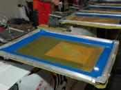 Maker Faire 2008, San Mateo - Shirt screen printing.