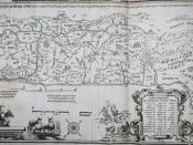 English: 1695 Eretz Israel map in Amsterdam Haggada by Abraham Bar-Jacob
