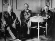Stresemann, Chamberlain and Briand at the Locarno negotiations