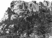 English: An image of Mount Rushmore from before construction of the Mount Rushmore National Memorial.