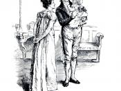 English: Emma (Jane Austen Novel) ch 12 : Mr Knightley has taken the little girl out of Emma's arms, and Emma felt they were friends again. Français : Emma (Jane Austen) ch 12 : Mr Knightley a pris dans ses bras la nièce d'Emma, qui dit à la petite fille
